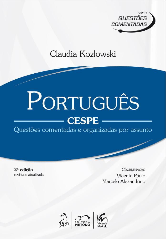 Portugues Cespe Serie Questoes Comentadas E Organizadas Por