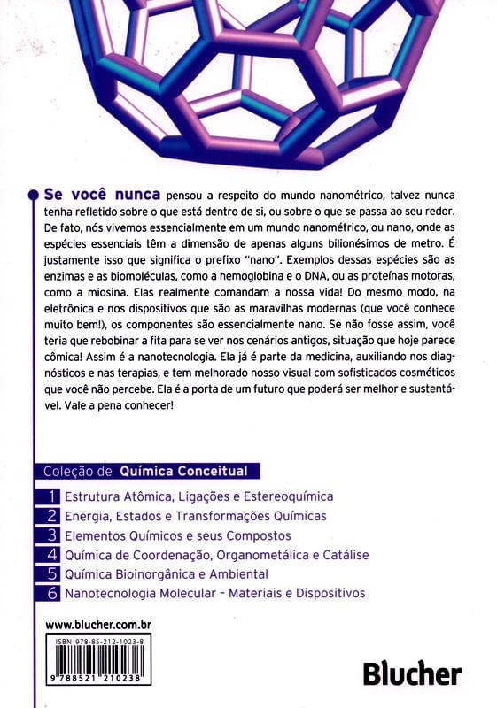 Nanotecnologia Molecular Materiais E Dispositivos Col De Química Conceitual Vol 6