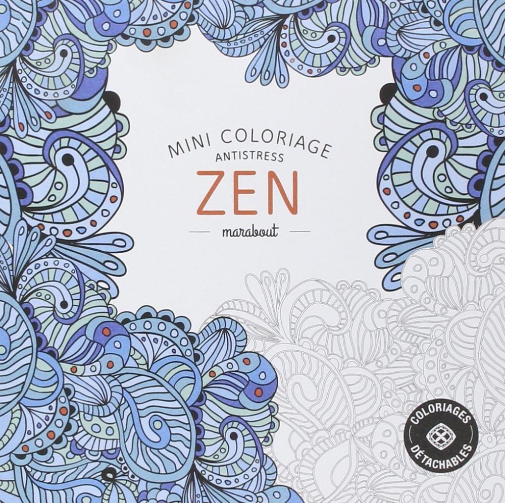 Mini Coloriage Antistress Zen   Saraiva