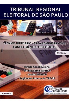 Usado - Tre de São Paulo - Vol. 2 - Técnico Judiciário - Área Administrativa - Conhecimentos Específicos -2ª Ed. 2016
