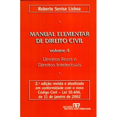 Manual Elementar de Direito Civil - Vol 4