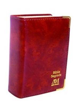 Bíblia Formato Bolso Almofadada com Índice - Caramelo - Ave Maria   Hoshan.org