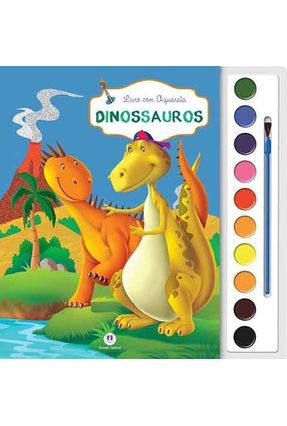 Dinossauros - Livro Com Aquarela - Editora Ciranda Cultural | Nisrs.org
