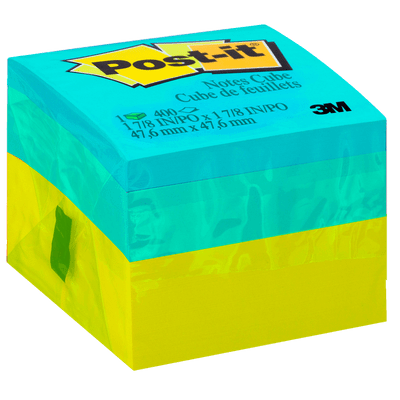 Bloco Adesivo Post-It® Cubo Verde - 47,6 Mm X 47,6 Mm - 400 Folhas*
