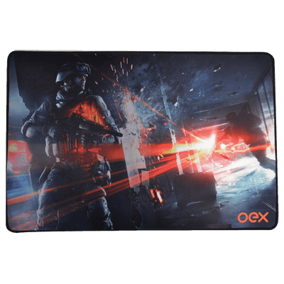 Mousepad Gamer Oex Battle Mp301 Antiskid, Base Emborrachada Anti-Derrapante