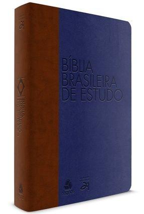 Bíblia Brasileira de Estudo - Marrom Com Azul - Sayão,Luiz Alberto | Hoshan.org