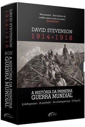 Box - A História da Primeira Guerra  Mundial - 1914-1918 - 4 Volumes - Stevenson,David | Tagrny.org