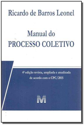 Manual do Processo Coletivo - 4ª Ed. 2017 - Leonel,Ricardo de Barros pdf epub