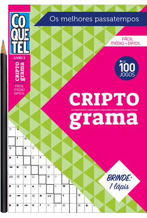 Criptograma - Fácil-Médio-Difícil- Livro 3 - Coquetel | Tagrny.org