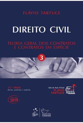 Direito Civil - Teoria Geral Dos Contratos E Contratos Em Espécie - Vol. 3 - Tartuce,Flávio   Hoshan.org