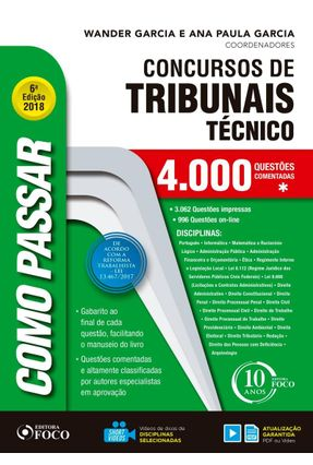 Como Passar Em Concursos De Tribunais Técnico - Nivel Medio - 4.000 Questões - Garcia,Wander Garcia,Ana Paula pdf epub