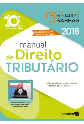 Manual De Direito Tributário - 10ª Ed. 2018 - Eduardo Sabbag   Hoshan.org