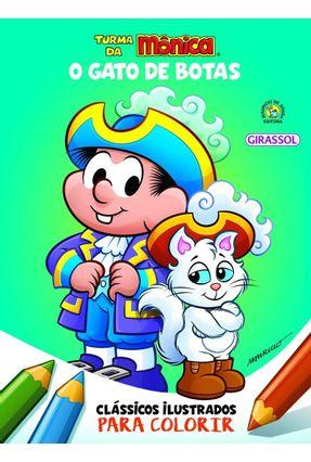Turma Da Mônica Clássicos Ilustrados Para Colorir - O Gato De Botas - Sousa,Mauricio | Tagrny.org