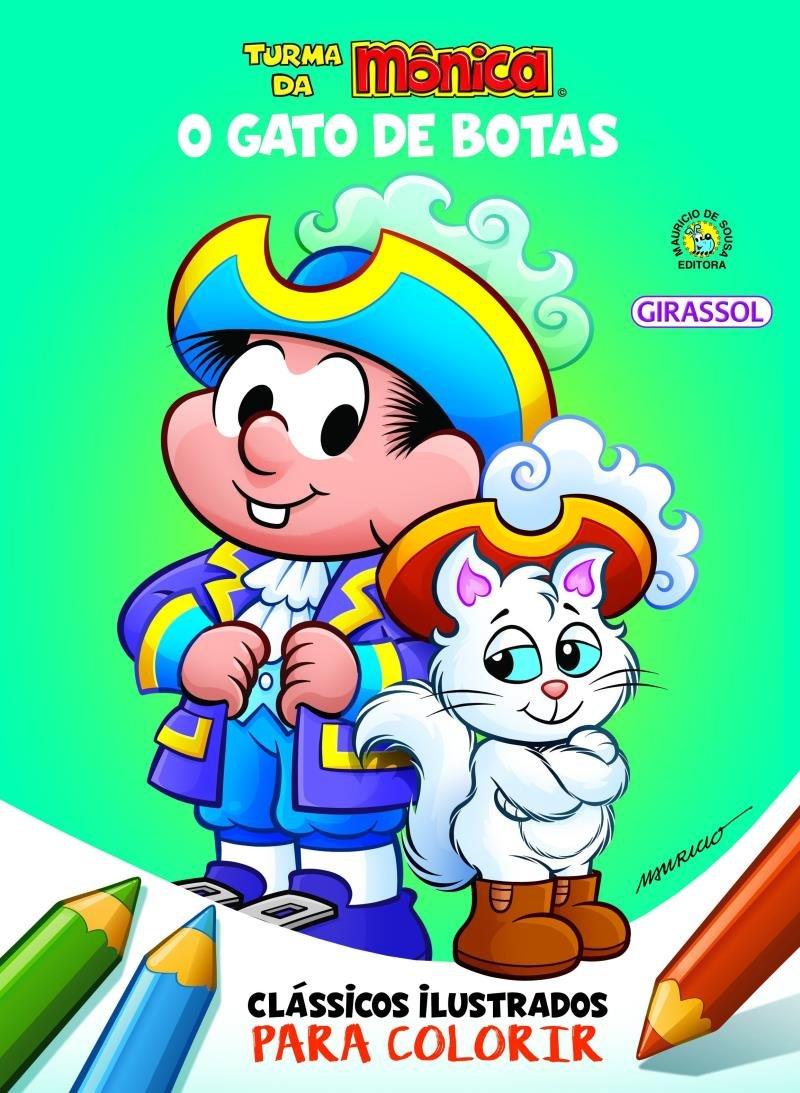 Turma Da Monica Classicos Ilustrados Para Colorir O Gato De