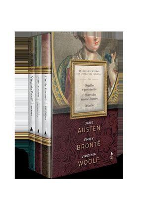 Box - Grandes Escritoras da Literatura Inglesa - 3 Volumes - Woolf,Virginia Jane Austen Emily Brontë | Hoshan.org