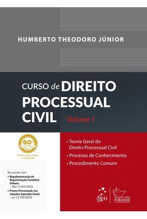 Curso de Direito Processual Civil - Volume I - 60ª Ed. 2019 - Theodoro Júnior,Humberto | Tagrny.org