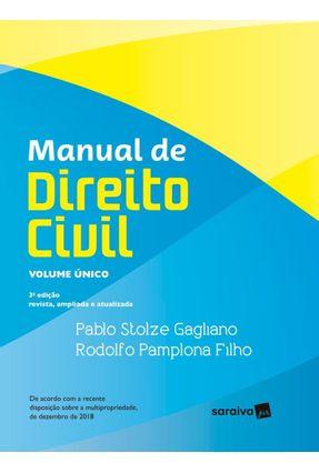 Manual De Direito Civil - Volume Único - 3ª Ed. 2019 - PABLO STOLZE GAGLIANO RODOLFO PAMPLONA FILHO | Hoshan.org