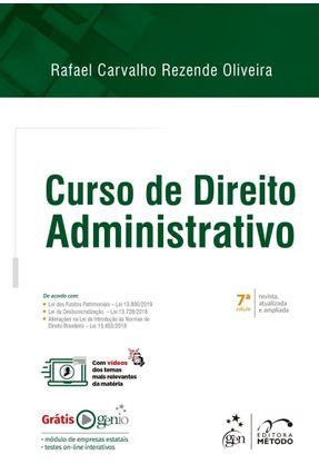 Curso De Direito Administrativo - Oliveira,Rafael Carvalho Rezende   Hoshan.org