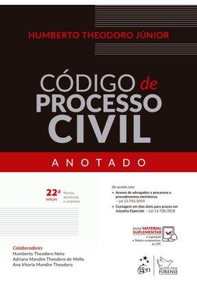 Código De Processo Civil Anotado - 22ª Ed.2019 - Júnior,Humberto Theodoro   Nisrs.org
