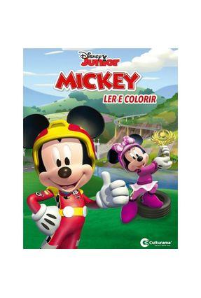 Livro Médio Ler E Colorir Mickey Sobre Rodas