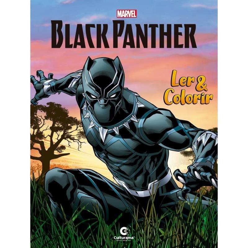 Livro Medio Ler E Colorir Pantera Negra Saraiva