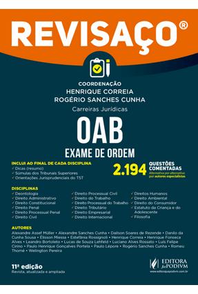 OAB - Exame De Ordem - Revisaço - Cunha,Rogério Sanches Correia,Henrique pdf epub