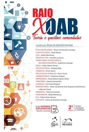 Raio X OAB - Teoria E Questões Comentadas - Gonzaga,Alvaro de Azevedo pdf epub