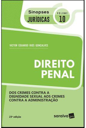 Direito Penal - Col. Sinopses Jurídicas - Vol. 10  - 5ª Ed. 2019 -  pdf epub