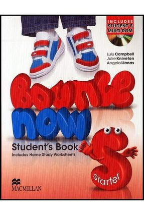 Bounce Now Starter - Student's Book with Home Study + Multi-Rom + Activity Resource - Macmillan | Hoshan.org