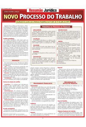Resumão Jurídico - Novo Processo do Trabalho -  pdf epub