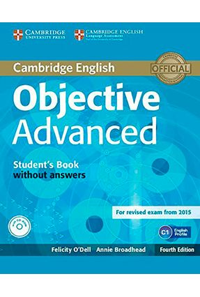 Objective Advanced - Student's Book Without Answers and CD-ROM - Cambridge University Press | Nisrs.org