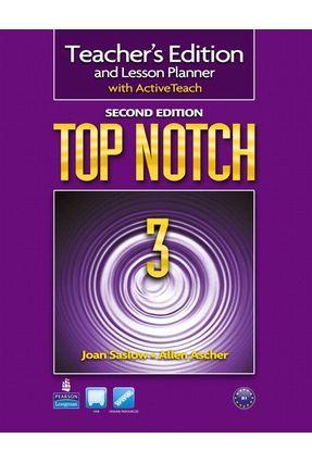 Top Notch 3 - Teachers Book With CD-ROM - Second Edition - Ascher,Allen Saslow,Joan   Nisrs.org