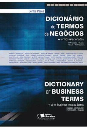 Usado - Dicionário de Termos de Negócios - Português / Inglês - Inglês / Português