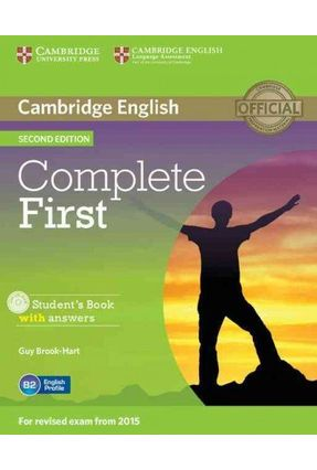 Complete First - Sb With Answer With Cd-Rom - 2Ndd - Cambridge University Press   Hoshan.org