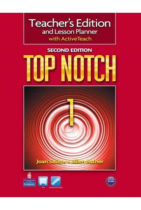Top Notch 1 - Teachers Book With CD-ROM - Second Edition - Ascher,Allen Saslow,Joan | Nisrs.org