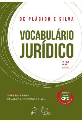 Vocabulário Jurídico - 32ª Ed. 2016 - Silva,de Placido e pdf epub