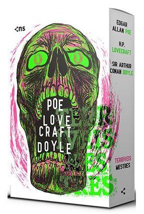 Box Terríveis Mestres - 3 Volumes - Acompanha Pôster + Conteúdo Extra - Doyle,Arthur Conan Poe,Edgar Allan H.P. Lovecraft   Hoshan.org