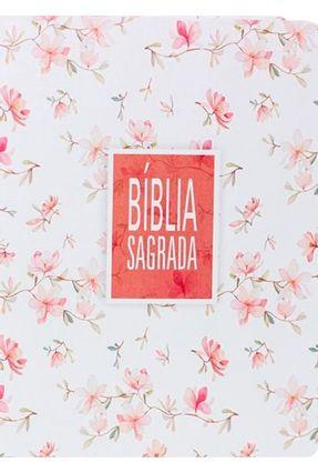 Bíblia Sagrada NA85 - Floral Branca -  pdf epub