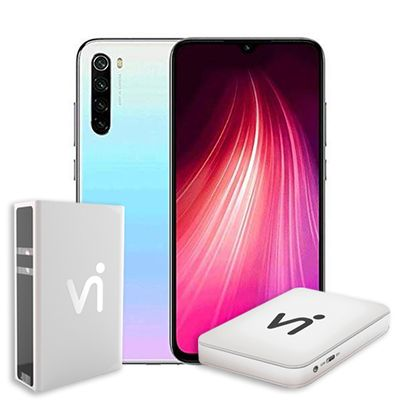 Phonestation Xiaomi Redmi Note 8 - Branco,  4gb+128gb, Câmera Quadrupla 13mp+48mp/8mp/2mp/2mp