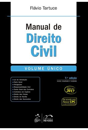 Manual de Direito Civil - Volume Único - 7ª Ed. 2017 - Tartuce,Flávio | Hoshan.org