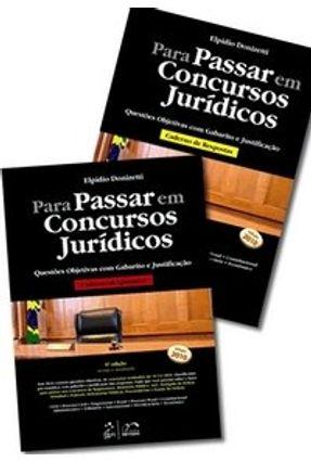 Usado - Para Passar em Concursos Jurídicos - Questões Objetivas com Gabarito e Justificação - 6ª Ed. 2010 - Nunes,Elpidio Donizetti | Hoshan.org