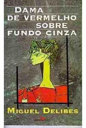 Dama de Vermelho Sobre Fundo Cinza