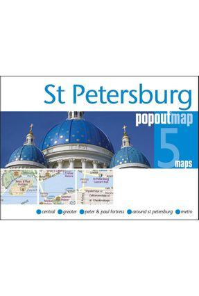 St Petersburg PopOut Map