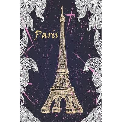 Paris - Paris Themed Dots Grid Notebook, 6 X 9 Dotted Journal, A5 Travelers Cover, Dairy, Planner 120 Pages, V.48
