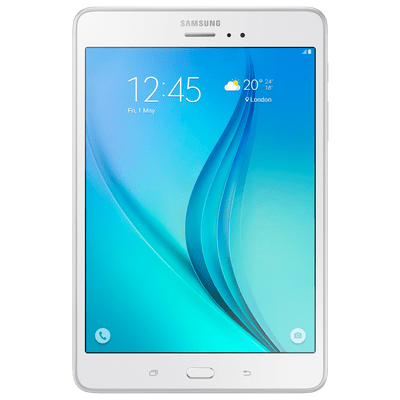 "Usado -Tablet Samsung Galaxy Tab A 8"" Branco 4G Android 5.0 16Gb Câmera 5Mp Quad Core 1.2Ghz"