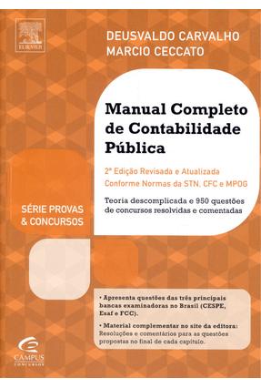 Usado - Manual Completo de Contabilidade Pública - 2ª Ed. 2014 - Série Provas e Concursos - Carvalho,Deusvaldo Ceccato,Marcio pdf epub