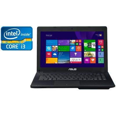 "Reembalado - Notebook Asus X451ca-Bral-Vx104h Intel® Core™ i3-2375M, 4Gb, HD 500Gb, 14"" W8"