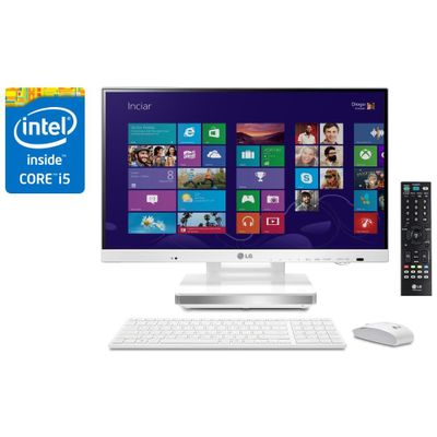 "Reembalado - Computador All In One LG 23V545-G.Bk31p1 TV Digital Intel® Core™ i5-4200M 4Gb, HD 500Gb LED 23"" W8.1"