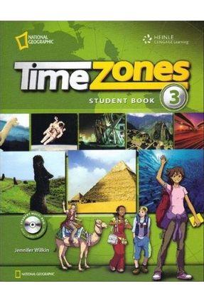 Time Zones 3 - Student Book + Multirom - Wilkin,Jennifer   Hoshan.org