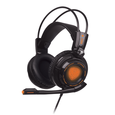 Headset Gamer Oex Extremor Hs400 Preto, 7.1 Virtual Surround, Smart Vibration